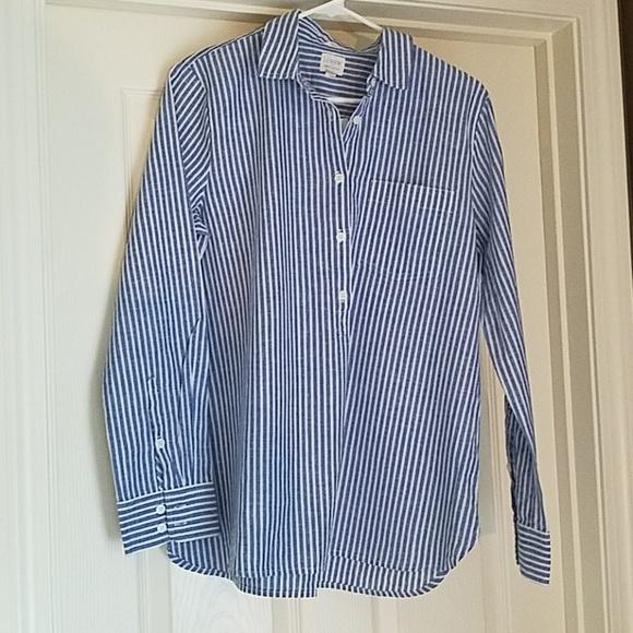 664259b43f7 Blue White Striped Shirt